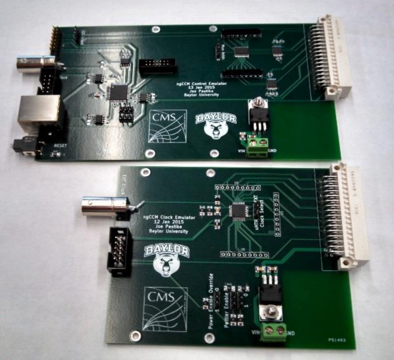 The ngCCM control and<br> clock emulator cards.